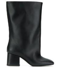 Черные кожаные полусапоги от Marni