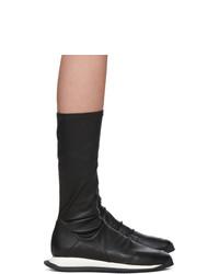 Черные кожаные полусапоги от Rick Owens