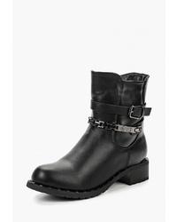 Черные кожаные полусапоги от Vivian Royal