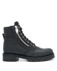 Мужские черные кожаные рабочие ботинки от Balmain