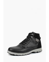 Мужские черные кожаные рабочие ботинки от Crosby