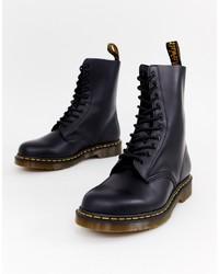Мужские черные кожаные рабочие ботинки от Dr. Martens