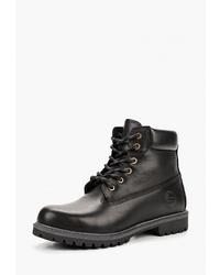 Мужские черные кожаные рабочие ботинки от El Tempo