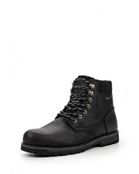 Мужские черные кожаные рабочие ботинки от Patrol