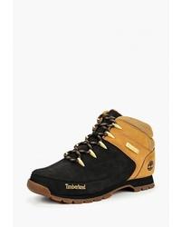 Мужские черные кожаные рабочие ботинки от Timberland
