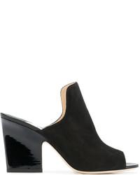 Женские черные кожаные сабо от Jimmy Choo