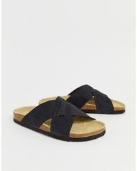 Мужские черные кожаные сандалии от Pier One