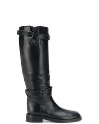 Мужские черные кожаные сапоги до колена от Ann Demeulemeester