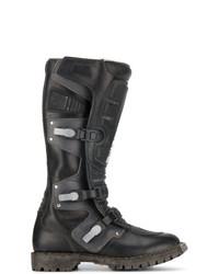 Мужские черные кожаные сапоги до колена от Balenciaga