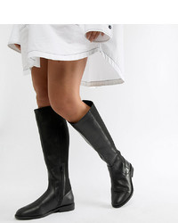 Черные кожаные сапоги от ASOS DESIGN