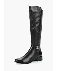 Черные кожаные сапоги от Berkonty