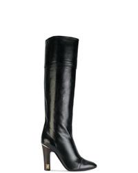 Черные кожаные сапоги от Marc Jacobs