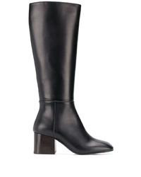 Черные кожаные сапоги от Marni