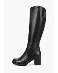 Черные кожаные сапоги от Provocante