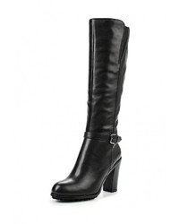 Женские черные кожаные сапоги от Valley
