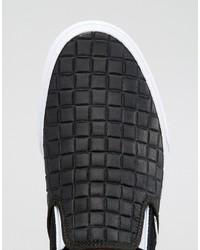 Мужские черные кожаные слипоны в клетку от Vans   Где купить и с чем ... 789f78927ad