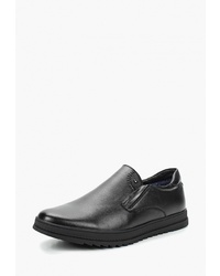 Мужские черные кожаные слипоны от T.Taccardi