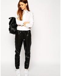 461b02b9c93c Купить женские черные кожаные спортивные штаны Asos - модные модели ...
