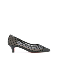 Черные кожаные туфли в горошек от GUILD PRIME