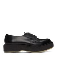 Черные кожаные туфли дерби от Études