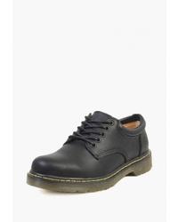 Черные кожаные туфли дерби от Airbox