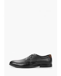 Черные кожаные туфли дерби от Alessio Nesca