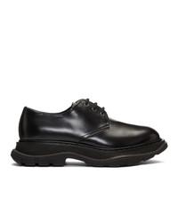 Черные кожаные туфли дерби от Alexander McQueen