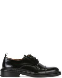 Мужские черные кожаные туфли дерби от AMI Alexandre Mattiussi