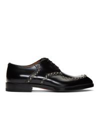 Черные кожаные туфли дерби от Christian Louboutin