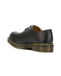 Черные кожаные туфли дерби от Dr. Martens