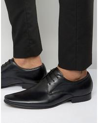Мужские черные кожаные туфли дерби от Dune
