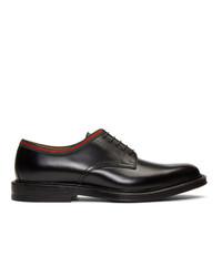 Черные кожаные туфли дерби от Gucci