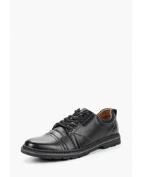 Черные кожаные туфли дерби от Instreet