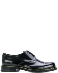 Черные кожаные туфли дерби от Jil Sander