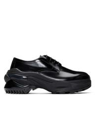 Черные кожаные туфли дерби от Maison Margiela