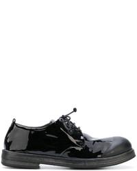 Мужские черные кожаные туфли дерби от Marsèll