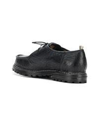 Черные кожаные туфли дерби от Officine Creative