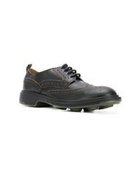 Черные кожаные туфли дерби от Pezzol 1951