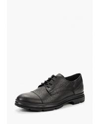 Черные кожаные туфли дерби от Pierre Cardin