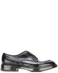Мужские черные кожаные туфли дерби от Premiata
