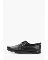 Черные кожаные туфли дерби от Sairus