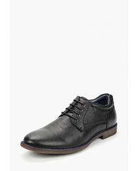 Черные кожаные туфли дерби от Thomas Munz
