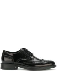 Мужские черные кожаные туфли дерби от Tod's