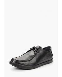 Черные кожаные туфли дерби от Woodland