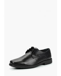 Черные кожаные туфли дерби от Woods by Woodland