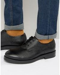 Мужские черные кожаные туфли дерби от Zign Shoes
