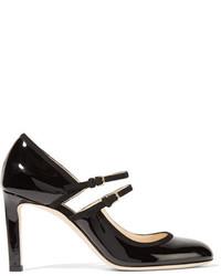 Черные кожаные туфли с вырезом от Jimmy Choo
