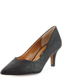Черные кожаные туфли с принтом
