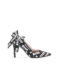 Черные кожаные туфли с принтом от MSGM