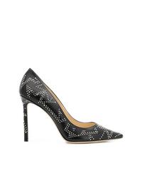 Черные кожаные туфли с шипами от Jimmy Choo